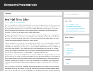 theconservativemonster.com screenshot