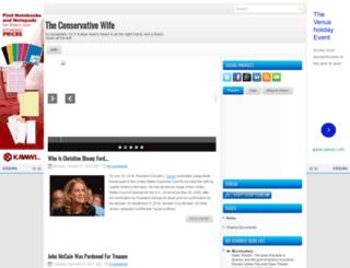 theconservativewife.blogspot.com screenshot