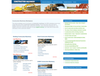 theconstructionmachinery.com screenshot