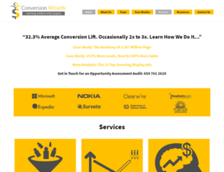 theconversionwizards.com screenshot