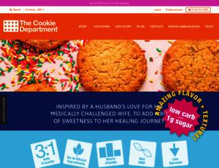 thecookiedepartment.com screenshot