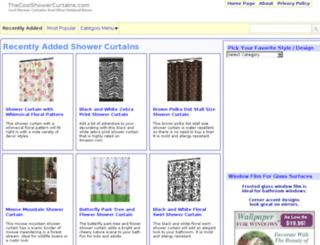 thecoolshowercurtains.com screenshot