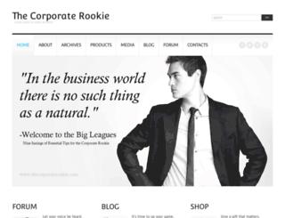 thecorporaterookie.com screenshot