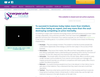 thecorporatetoolbox.com screenshot