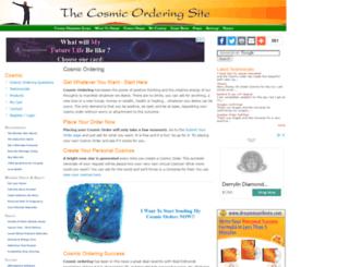 thecosmicorderingsite.com screenshot