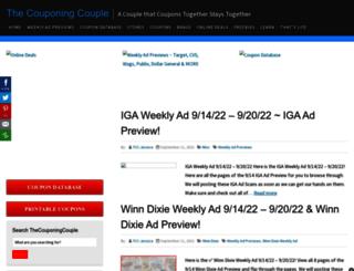 thecouponingcouple.com screenshot