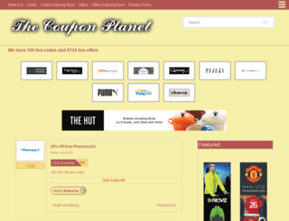 thecouponplanet.com screenshot
