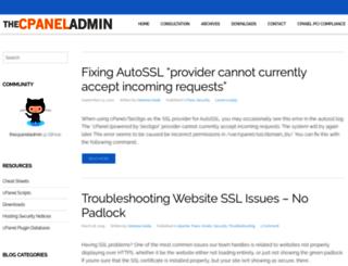 thecpaneladmin.com screenshot