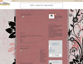 thecraftyreader.blogspot.com screenshot