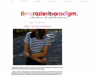 thecraziestparadigm.blogspot.com screenshot