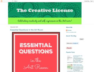 thecreativelicense.blogspot.com screenshot