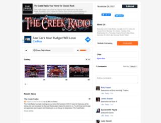 thecreekradio.listen2myradio.com screenshot