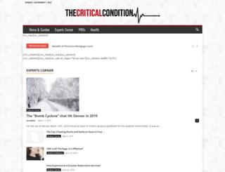thecriticalcondition.com screenshot