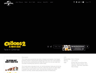 thecroodsmovie.co.uk screenshot