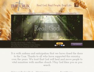 thecruxchurch.org screenshot