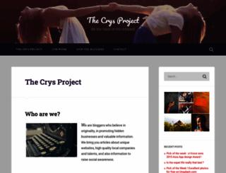 thecrysproject.wordpress.com screenshot