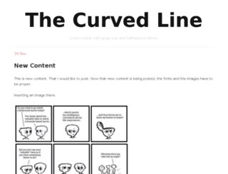thecurvedline.com screenshot