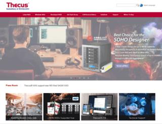 thecus.com screenshot
