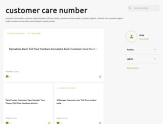 thecustomercarenumber.blogspot.in screenshot