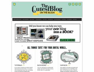 thecutestblogontheblock.com screenshot