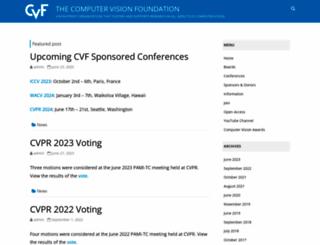 thecvf.com screenshot