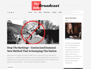thedailybroadcast.com screenshot