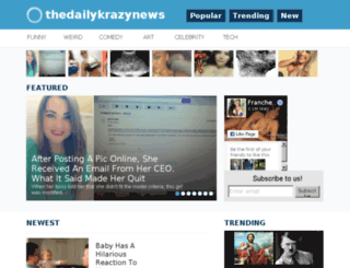 thedailykrazynews.tv screenshot