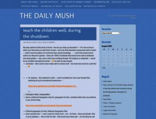 thedailymush.wordpress.com screenshot
