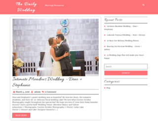 thedailywedding.com screenshot