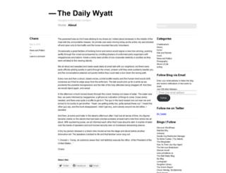 thedailywyatt.wordpress.com screenshot