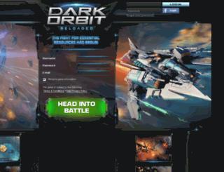thedarkorbit.com screenshot