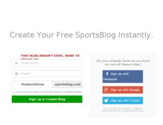 thedavidshow.sportsblog.com screenshot