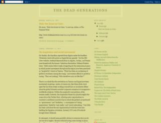 thedeadgenerations.blogspot.fr screenshot