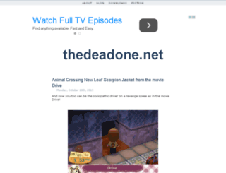 thedeadone.net screenshot