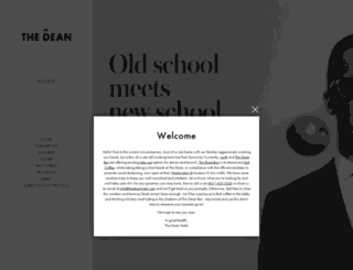 thedeanhotel.com screenshot