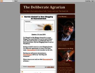 thedeliberateagrarian.blogspot.co.uk screenshot
