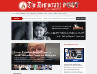 thedemocraticpost.com screenshot
