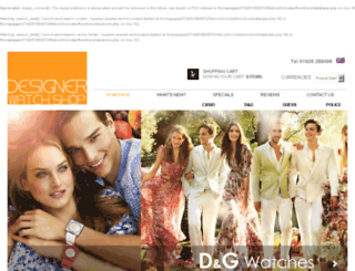 thedesignerwatchshop.co.uk screenshot