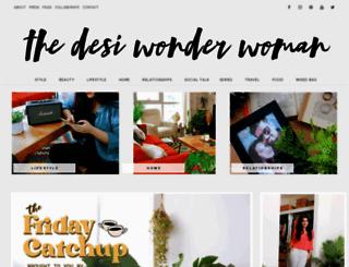 thedesiwonderwoman.com screenshot