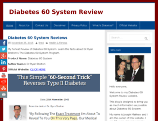 thediabetes60systemreview.com screenshot
