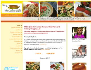 thediabeticskillet.com screenshot