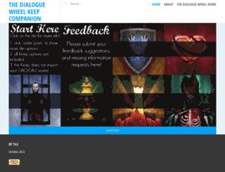 thedialoguewheel.wordpress.com screenshot
