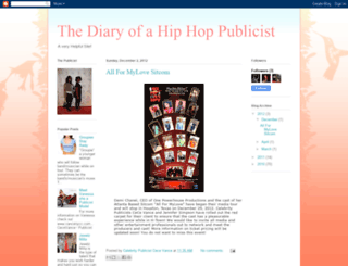 thediaryofhiphoppublicists.blogspot.com screenshot