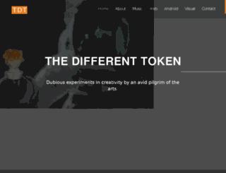 thedifferenttoken.com screenshot