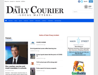 thedigitalcourier.com screenshot