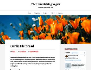thediminishingvegan.com screenshot