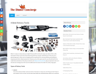 thedinnerconcierge.com screenshot