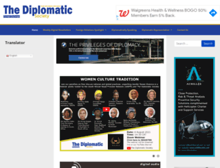 thediplomaticsociety.co.za screenshot
