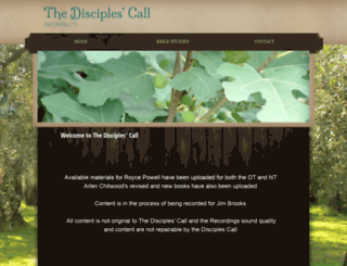 thedisciplescall.org screenshot