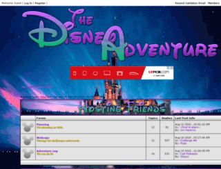 thedisneyadventure.jcink.net screenshot